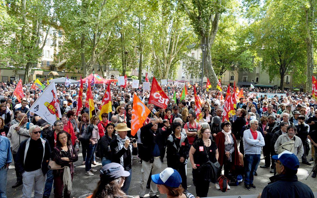 Un rassemblement pour construire la grève