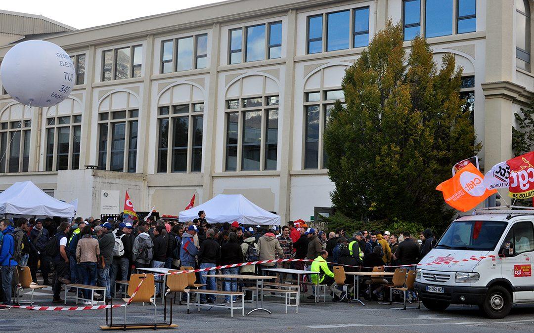 Alstom GE Grenoble : poursuite du blocage et premières discussions