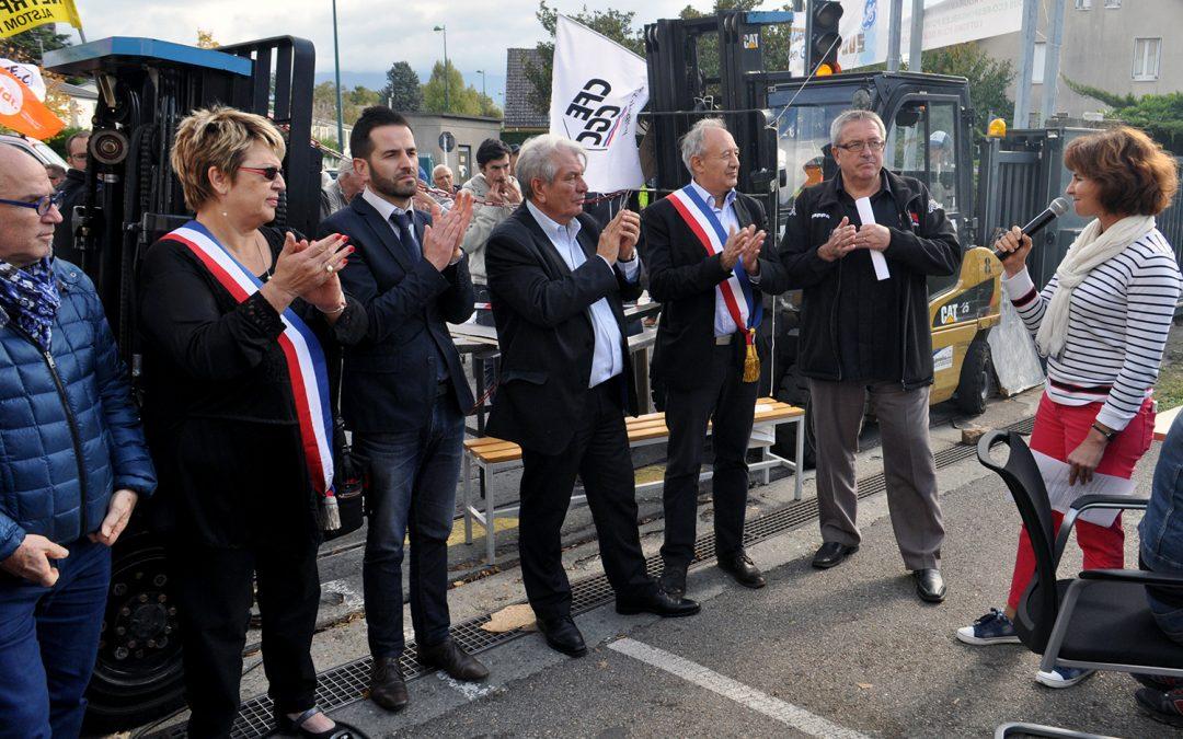 Alstom GE hydro : les élus communistes dans la bataille