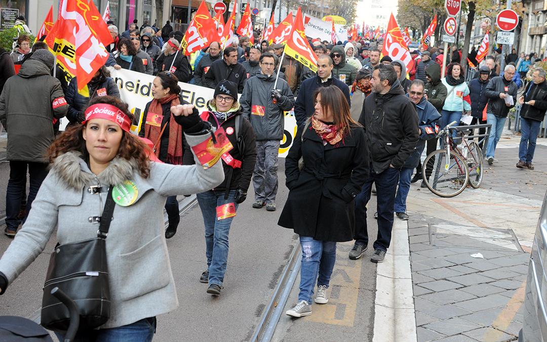 16 novembre : 2500 manifestants à Grenoble