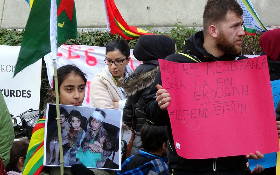 Mobilisation à Grenoble en solidarité avec les populations kurdes au Rojava et en Turquie