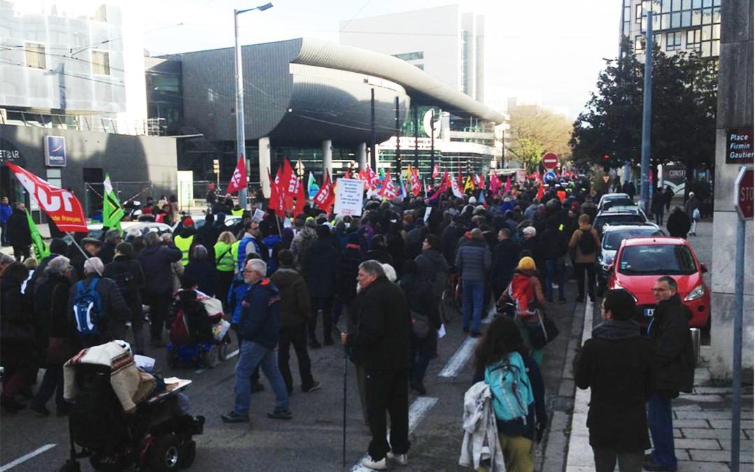 3000 manifestants le 1er décembre à Grenoble