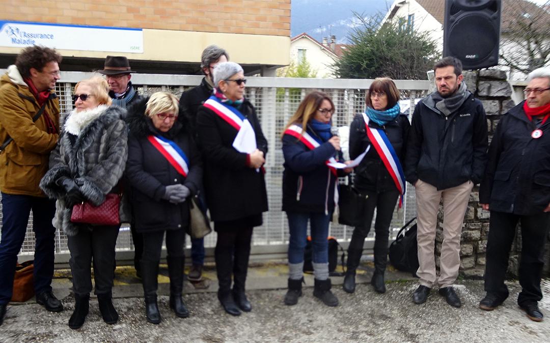 Manifestation pour le maintien de la CPAM à Fontaine
