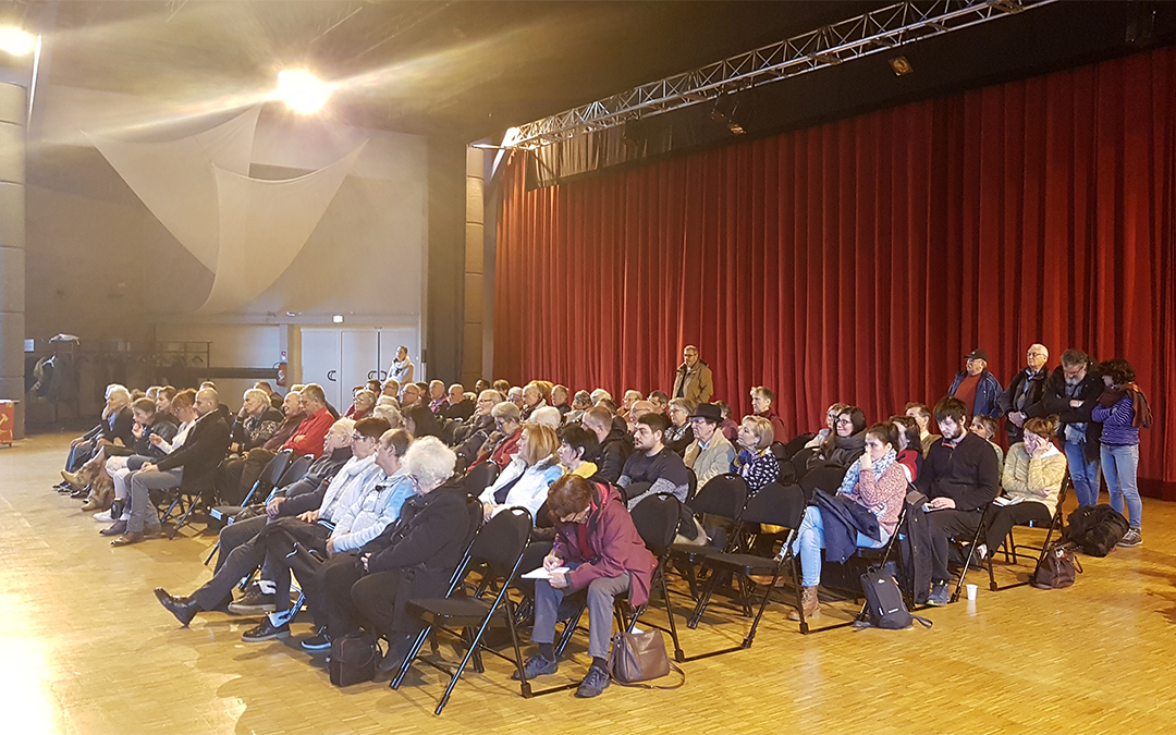 Journée de meeting politique et de banquet populaire à Saint-Martin-d'Hères