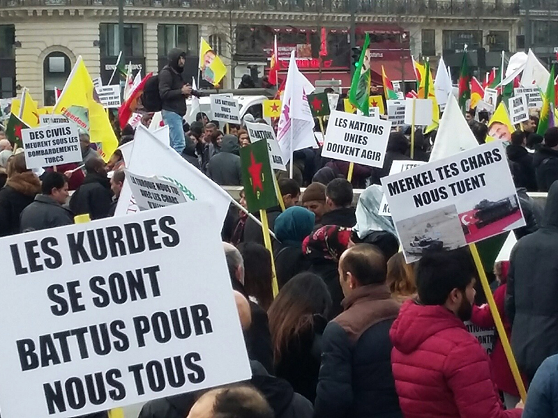 18 octobre, nouvel appel à mobilisation contre l'agression militaire turque