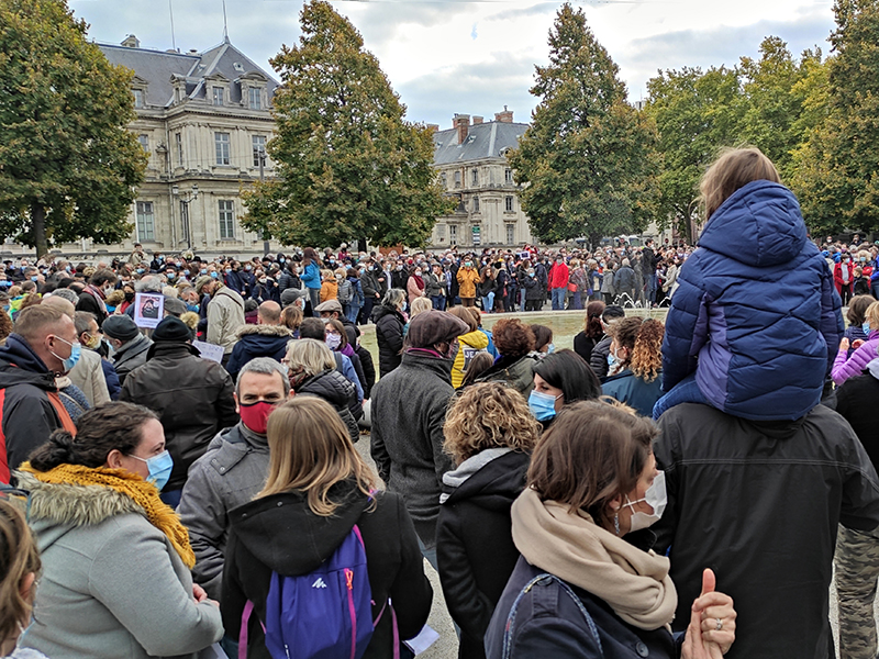 Douleur, colère, indignation à Grenoble après l'assassinat du professeur Samuel Paty