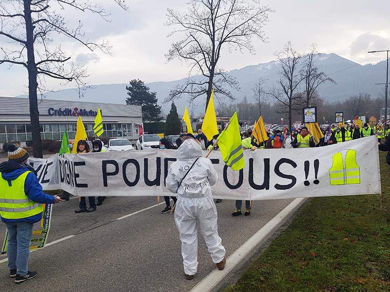 Les gilets jaunes de Crolles dans la rue ce samedi 28 novembre